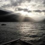 Lake Crescent at dusk